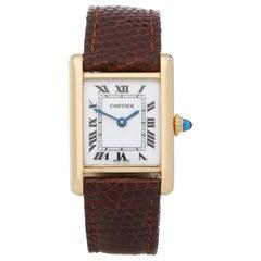 Cartier Tank Paris 18 Karat Yellow Gold Wristwatch
