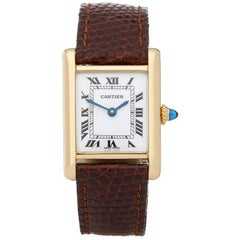 Cartier Tank Paris 18 Karat Yellow Gold Wristwatch