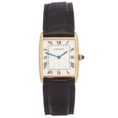 Cartier Tank Paris Mecanique 18 Karat Yellow Gold 2425
