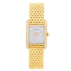 Cartier Tank Pave Diamond Ladies Watch