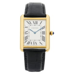 Cartier Tank Solo 18 Karat Yellow Gold Silver Dial Quartz Ladies Watch W5200004