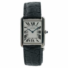 Cartier Tank Solo 2715 W1018355 Men's Quartz Watch with Box & Papers
