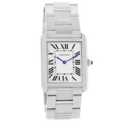 Cartier Tank Solo 3169 W5200014 Men's Quartz Watch with Box and Papers