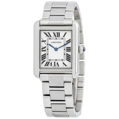 Cartier Tank Solo 3170, White Dial, Certified and Warranty