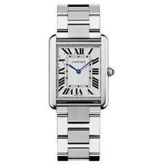 Cartier Tank Solo Quartz Movement Large Model Steel Men's Watch W5200014