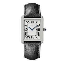 Cartier Tank Solo Quartz Movement Steel & Leather Watch WSTA0028
