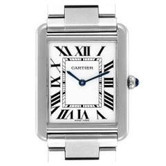 Cartier Tank Solo Silver Dial Steel Men's Watch W5200014