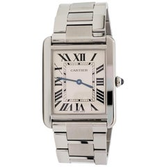Cartier 'Tank Solo' Stainless Steel Watch, Large Model