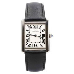 Cartier Tank Solo Stainless Steel Watch, Large Model