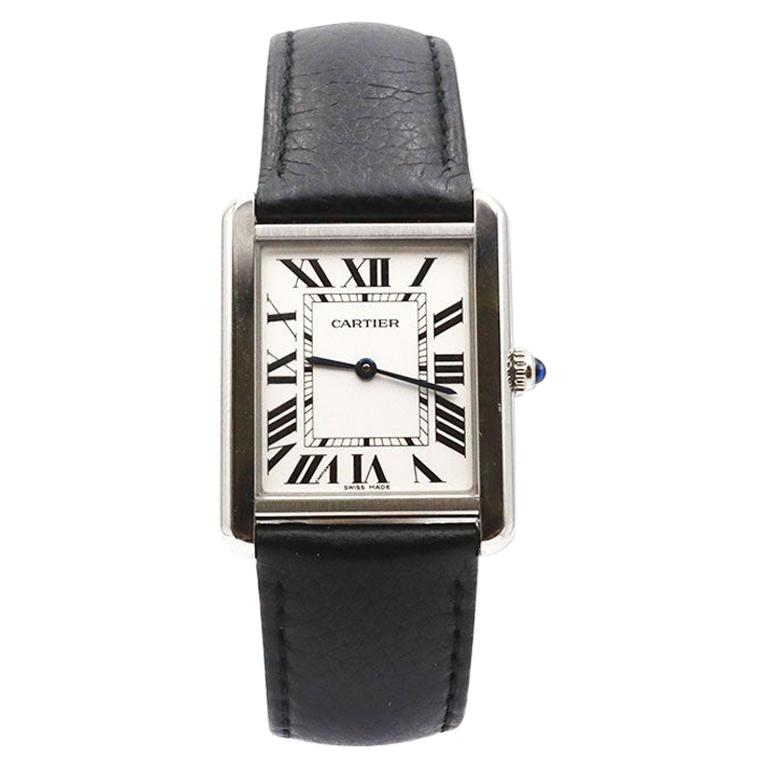 Cartier Tank Solo Stainless Steel Watch, Large Model For Sale