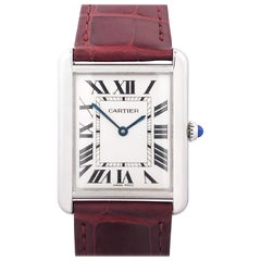 Cartier Tank Solo Steel Quartz Wristwatch