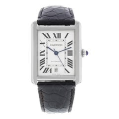 Cartier Tank Solo W5200027 Rectangle Stainless Steel Automatic Men's Watch