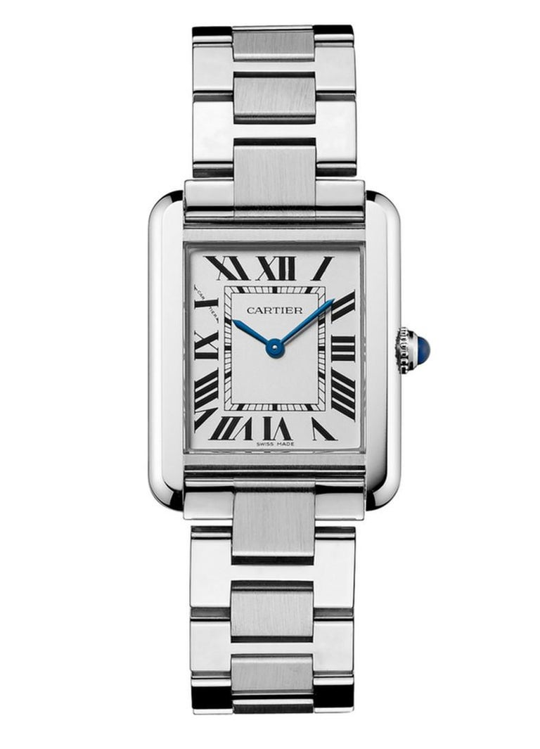 Cartier Tank Solo Watch Small Model Steel In New Condition For Sale In Firenze, IT