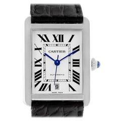 Cartier Tank Solo XL Automatic Date Stainless Steel Men's Watch W5200027