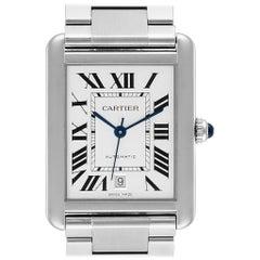 Cartier Tank Solo XL Silver Dial Automatic Steel Men's Watch W5200028