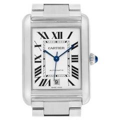 Cartier Tank Solo XL Silver Dial Steel Men's Watch W5200028