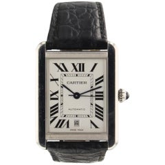 Cartier Tank Solo XL Stainless Steel Automatic Watch W5200027 Mint