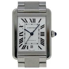 Cartier Tank Solo XL W5200028 Edelstahl Automatikuhr 2 Jahre Garantie #468-1
