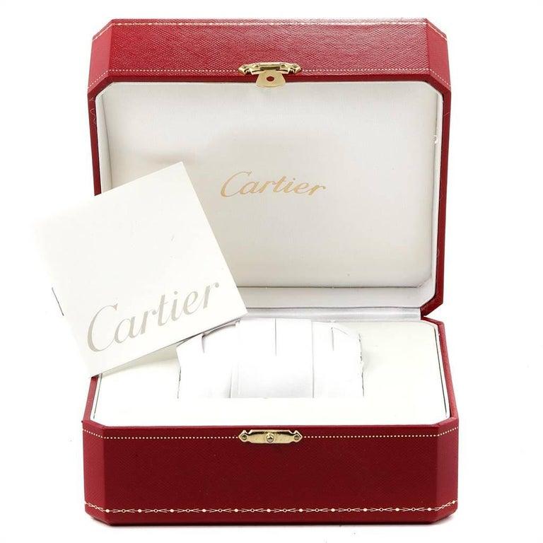 Cartier Tank Solo Yellow Gold Steel Black Strap Men's Watch W1018855 For Sale 7