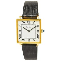 Cartier Tank Square No-Ref#, White Dial, Certified and Warranty