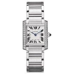 Cartier Tank Steel Aftermarket Diamonds 'Y-28'