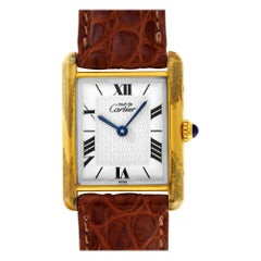 Cartier Tank Vermeil 1615, White Dial, Certified and Warranty