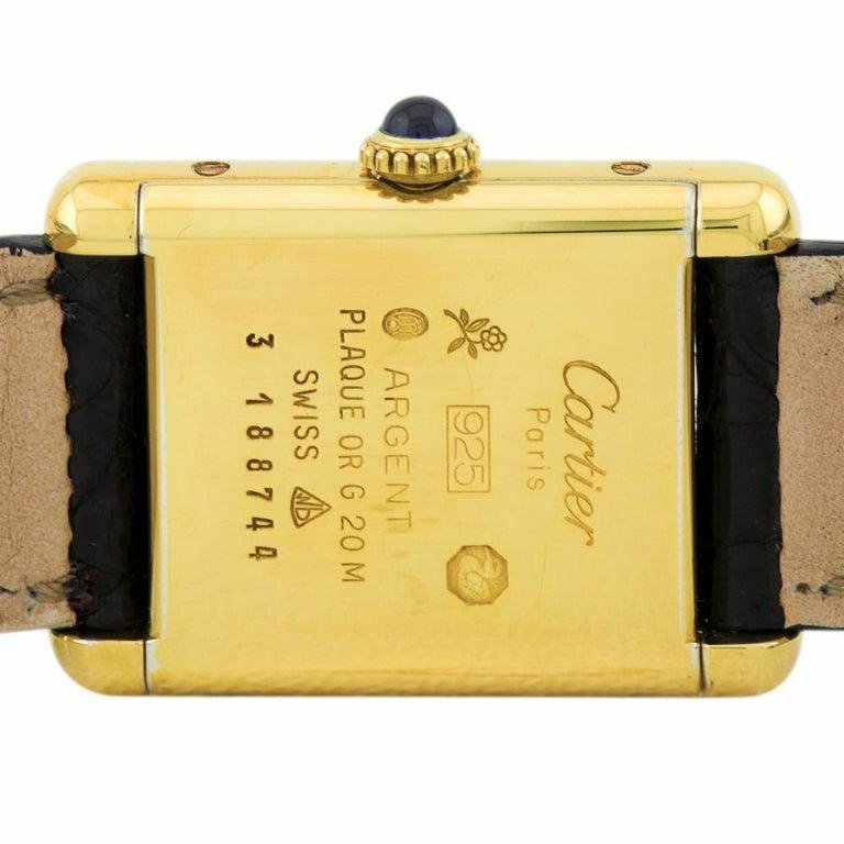 Cartier Tank Vermeil Vintage, Black Dial, Certified and Warranty 1