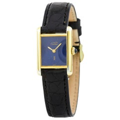Cartier Tank Vermeil Vintage, Black Dial, Certified and Warranty