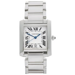 Cartier Tank W50011S3 OR 2366 Ladies White Gold Watch
