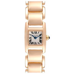 Cartier Tankissime Silver Dial Rose Gold Ladies Watch W650018H Box Papers