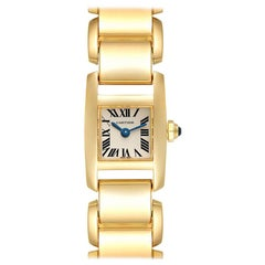 Cartier Tankissime Small Yellow Gold Ladies Watch W650048H Box Papers