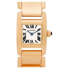 Cartier Tankissime W650018H; Black Dial, Certified and Warranty