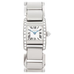 Cartier Tankissime WE70069H 2831 Ladies White Gold Watch