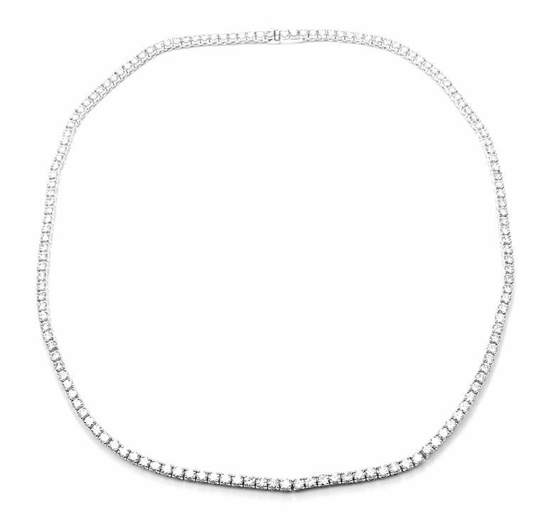 Cartier Tennis Line Diamond White Gold Necklace For Sale 6