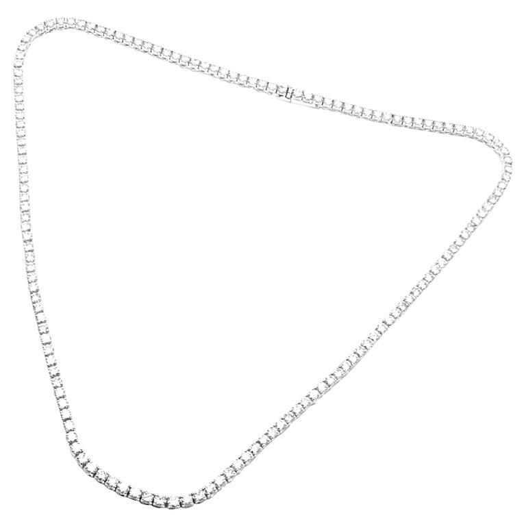 Cartier Tennis Line Diamond White Gold Necklace For Sale