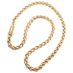 Cartier Thick Link Yellow Gold Chain Necklace