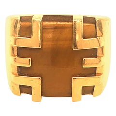 Cartier Tiger Eye and Gold Ring