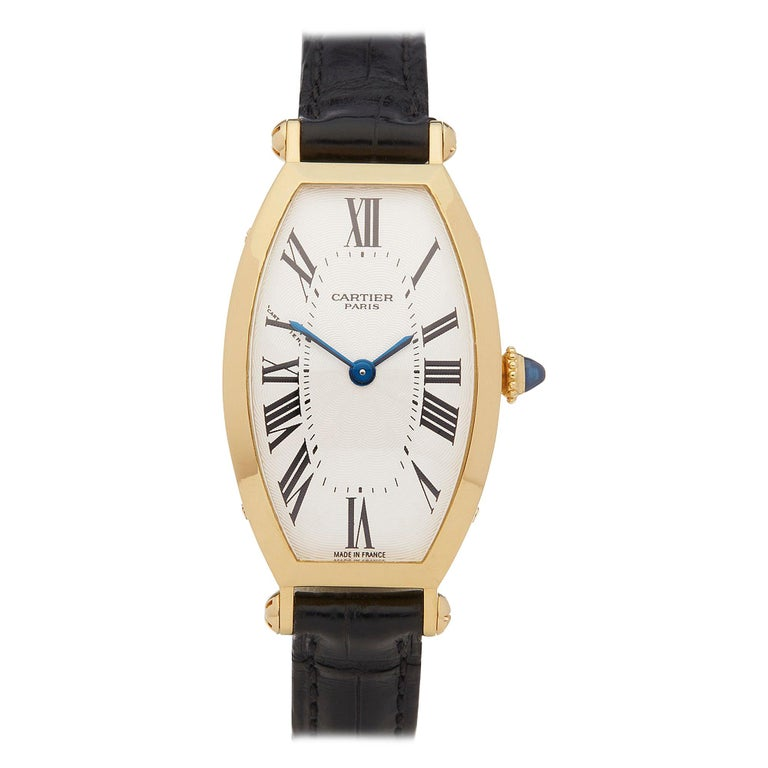 Cartier Tonneau 18 Karat Yellow Gold 2451B For Sale