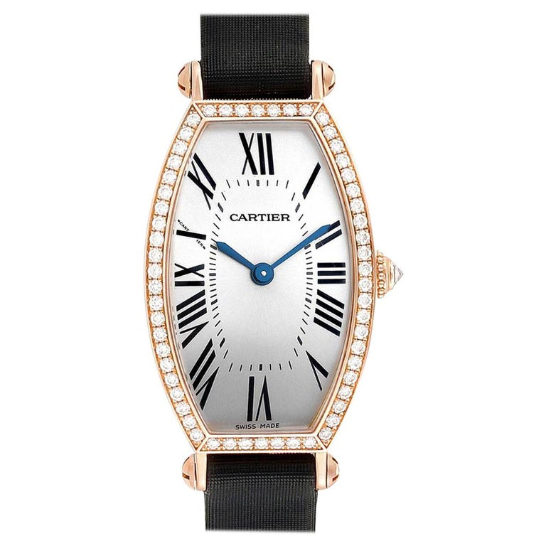 Cartier Tonneau 18 Karat Yellow Gold Diamond Ladies Watch WE400331