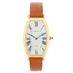 Cartier Tonneau Ladies Large Yellow Gold Watch