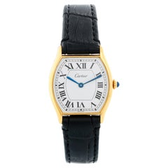 Cartier Tonneau Ladies Yellow Gold Watch
