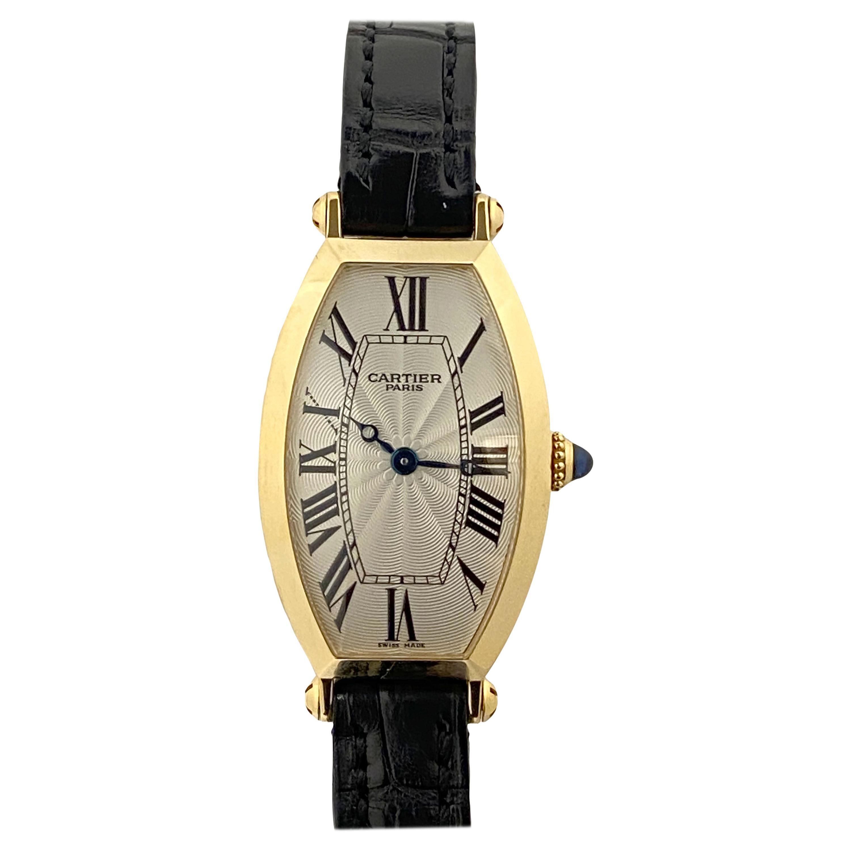 Cartier Tonneau Privee Ladies Yellow Gold Mechanical Wrist Watch