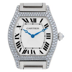 Cartier Tortue 2497 18 Karat White Gold Manual Watch