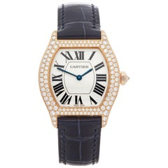 Cartier Tortue Diamond 18 Karat Rose Gold WA505031