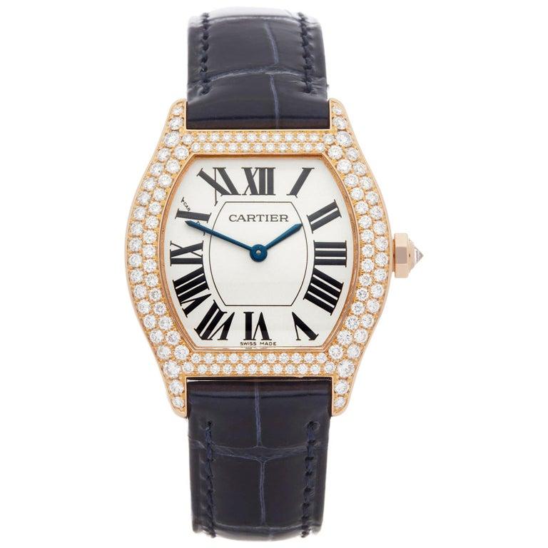 Cartier Tortue Diamond 18 Karat Rose Gold WA505031