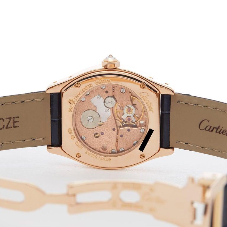 Cartier Tortue Diamond 18 Karat Rose Gold WA505031 2