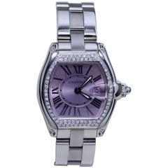 Cartier Roadster Diamond Studded Wristwatch