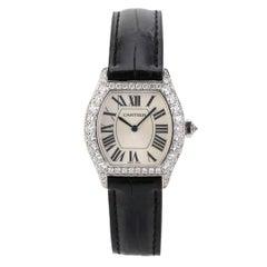 Cartier Tortue Francaise White Gold Diamond Ladies Watch WA507231
