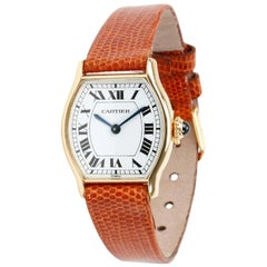 Cartier Tortue No-Ref, White Dial, Certified and Warranty