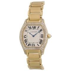 Cartier Tortue Paris 2496 18 Karat Rose Gold Ladies Diamond Watch